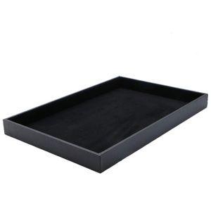 Black Velvet Jewelry Display Organizer Tray